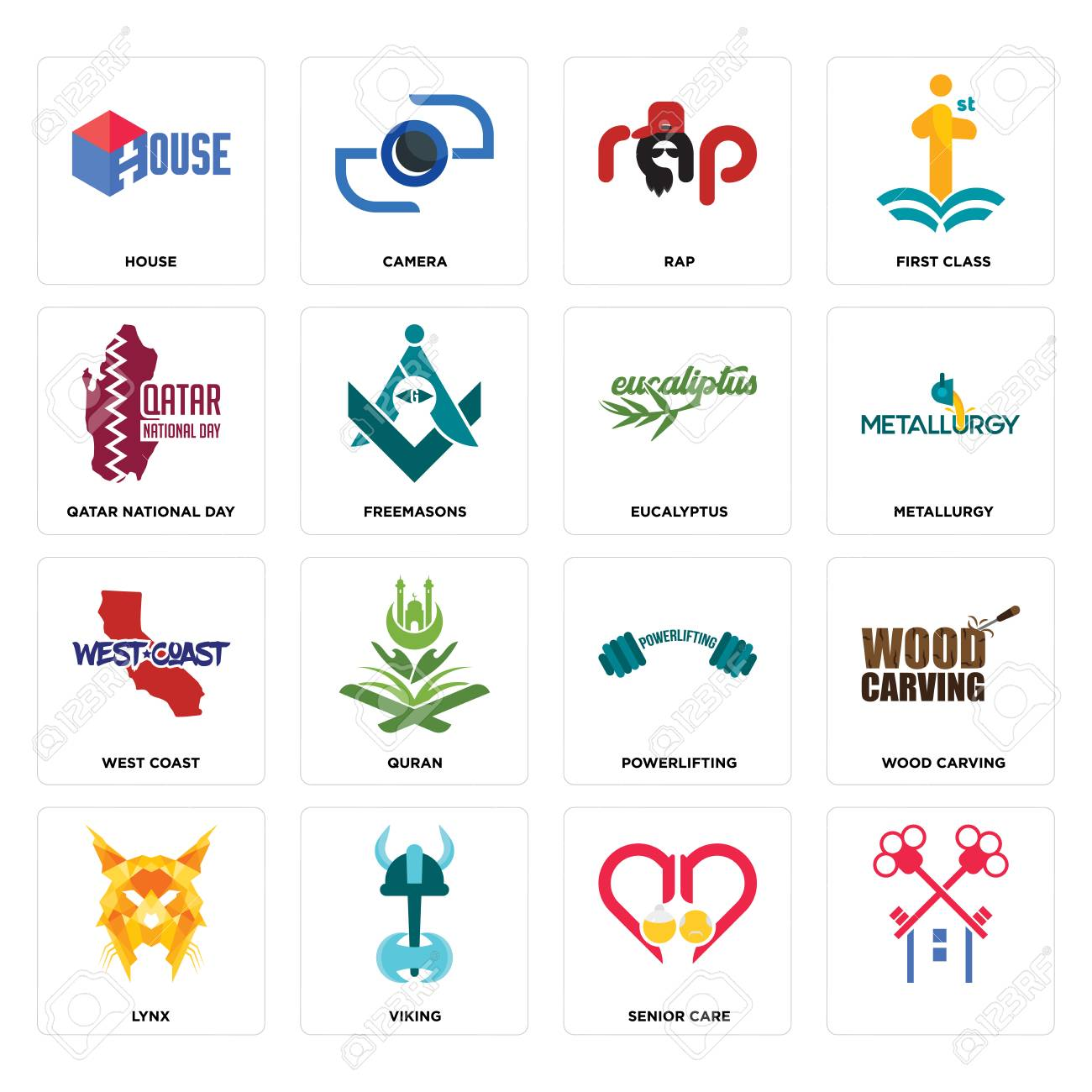 Set Of 16 Simple Editable Icons Such As Senior Care Viking