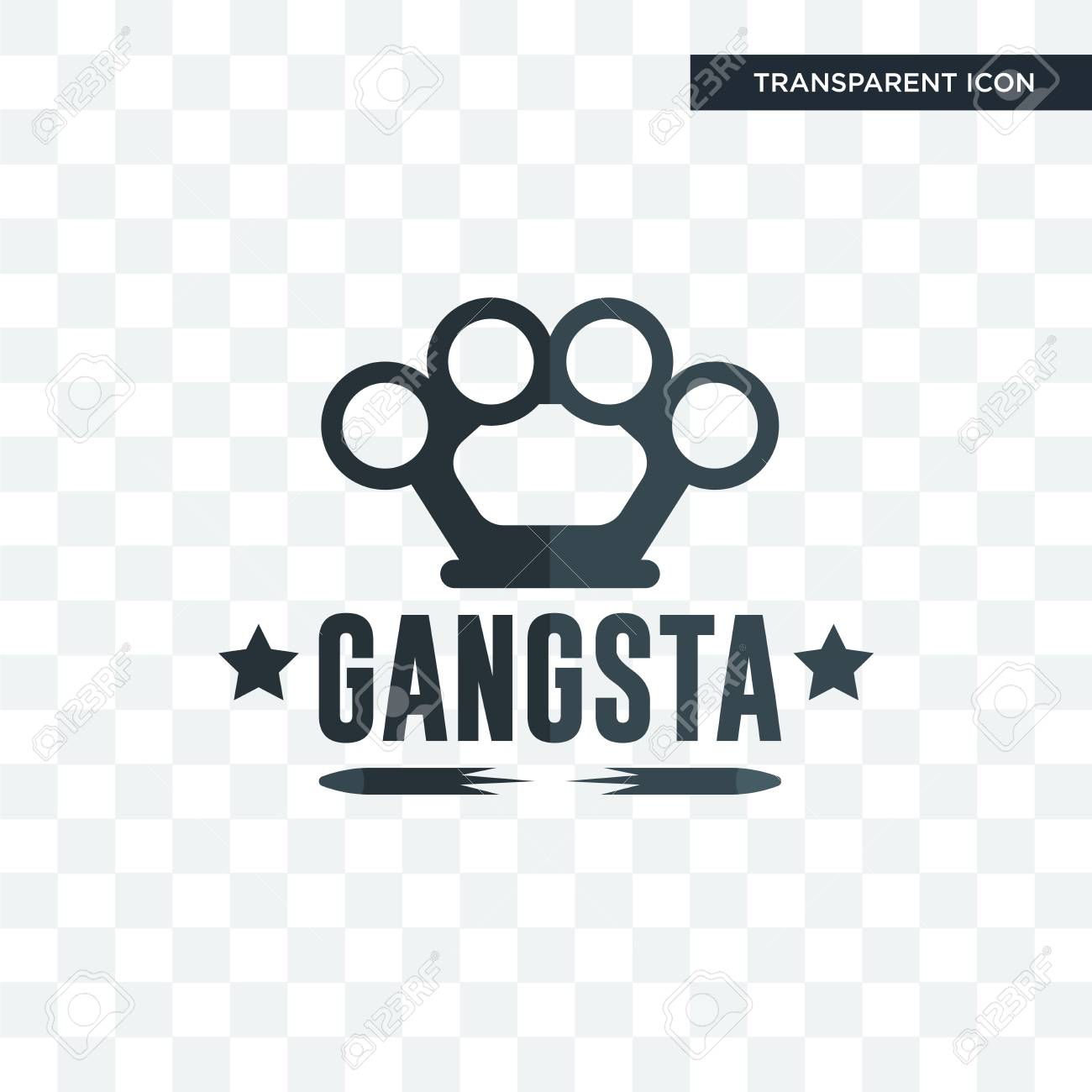 gangsta vector icon isolated on transparent background gangsta