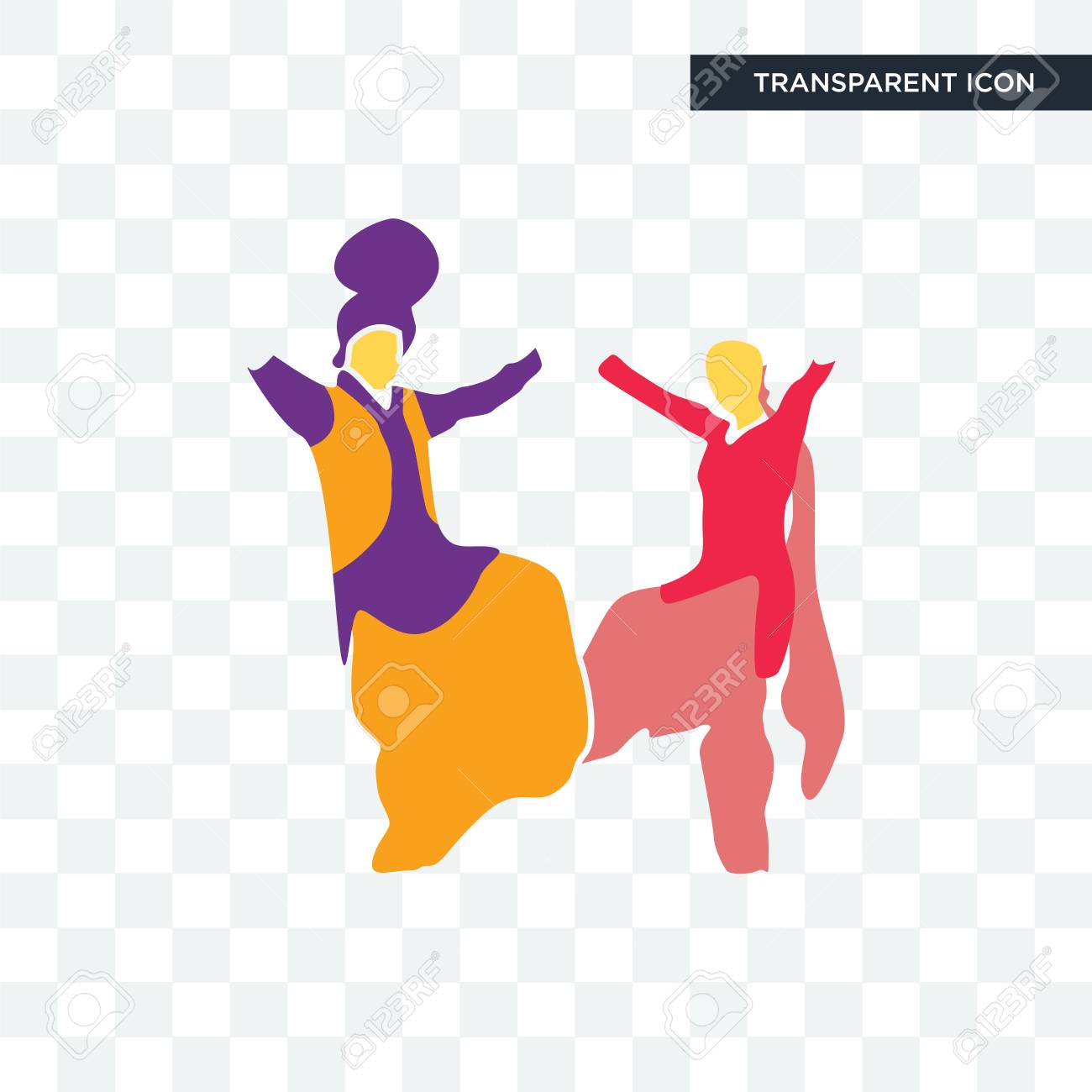 Bhangra Vector Icon Isolated On Transparent Background Bhangra
