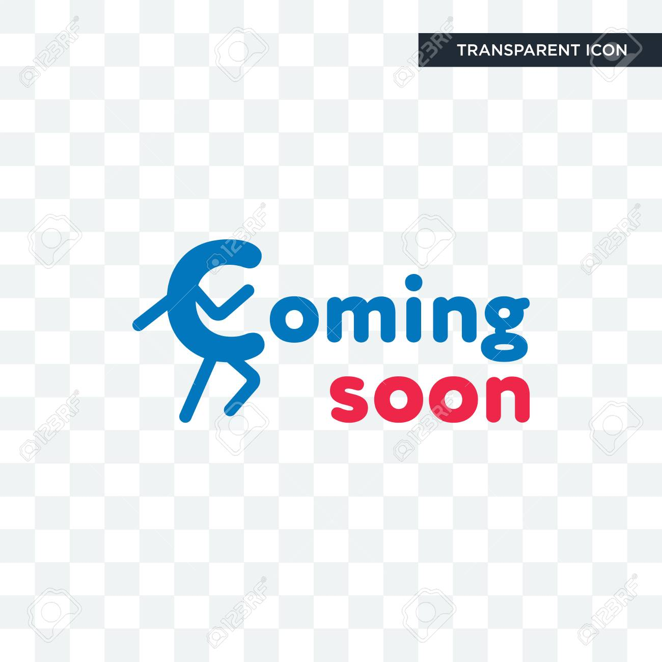Coming Soon Vector Icon Isolated On Transparent Background Coming Royalty Free Cliparts Vectors And Stock Illustration Image 103693116