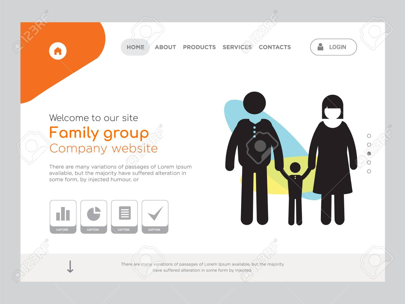 Quality one page family group website template vector eps modern quality one page family group website template vector eps modern web design with landscape illustration maxwellsz
