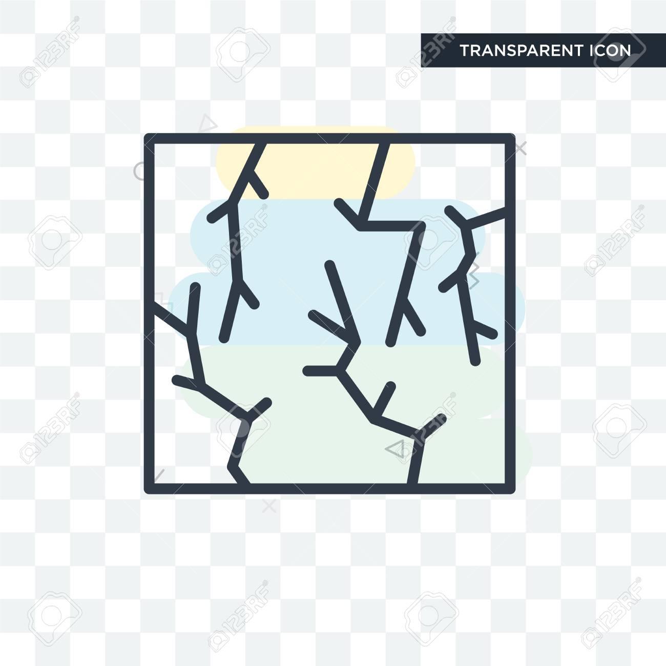 Crack icon isolated on transparent background - 108517963