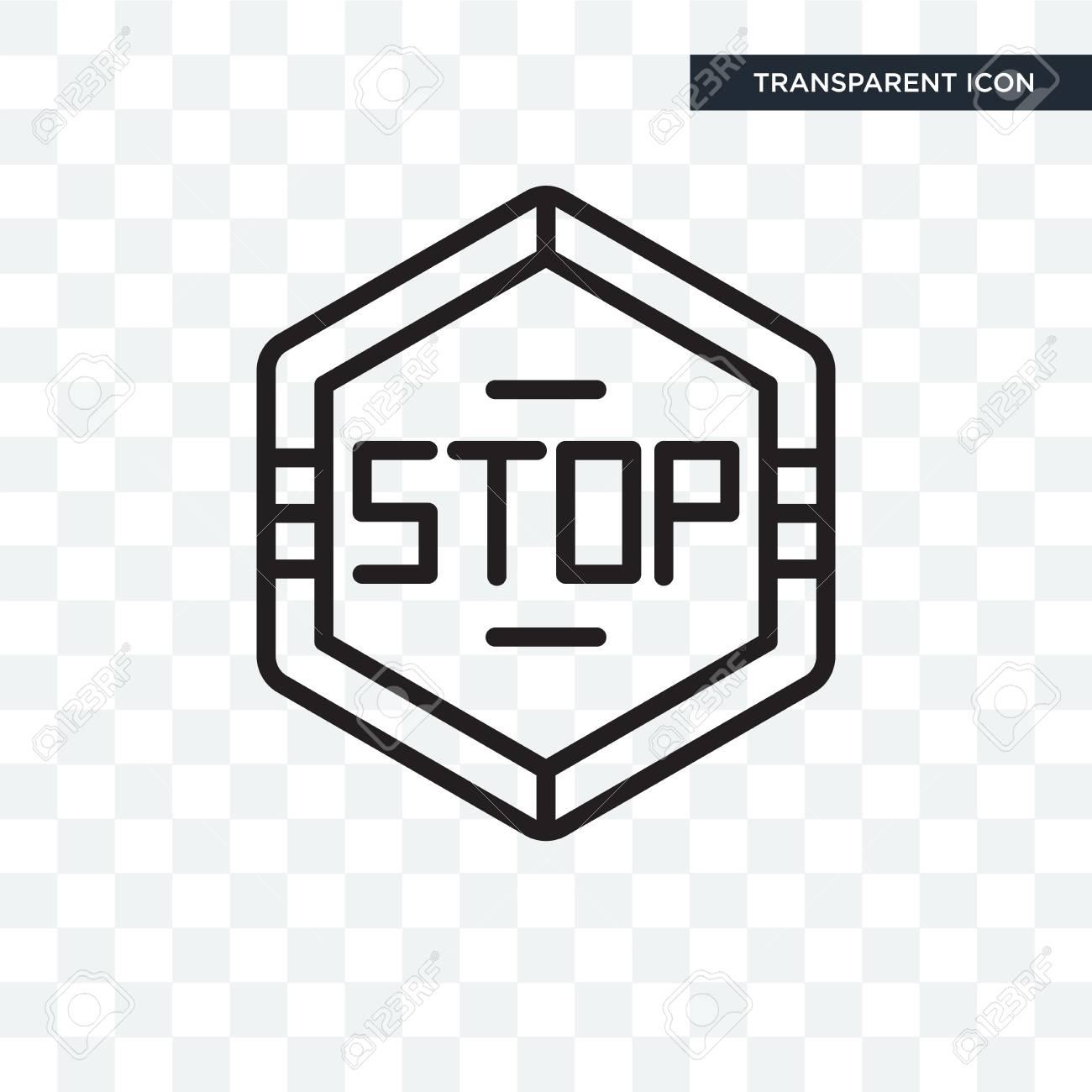 Stop hexagonal illustration icon isolated on transparent background