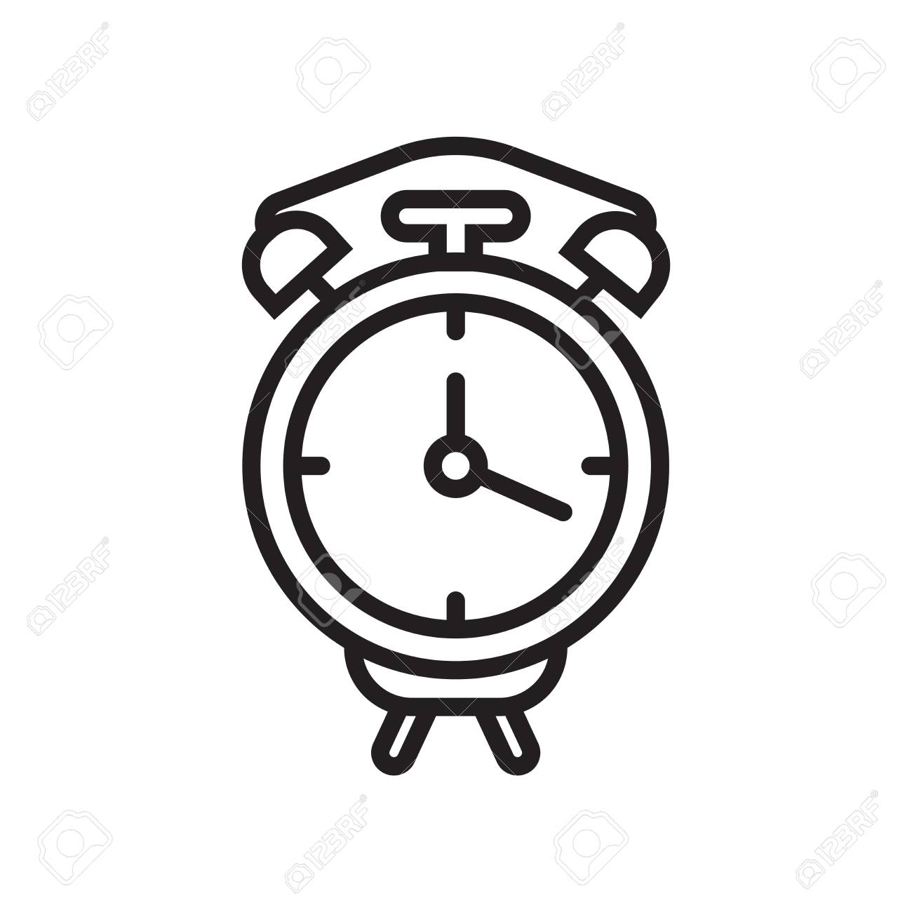 Alarm clock icon vector isolated on white background for your