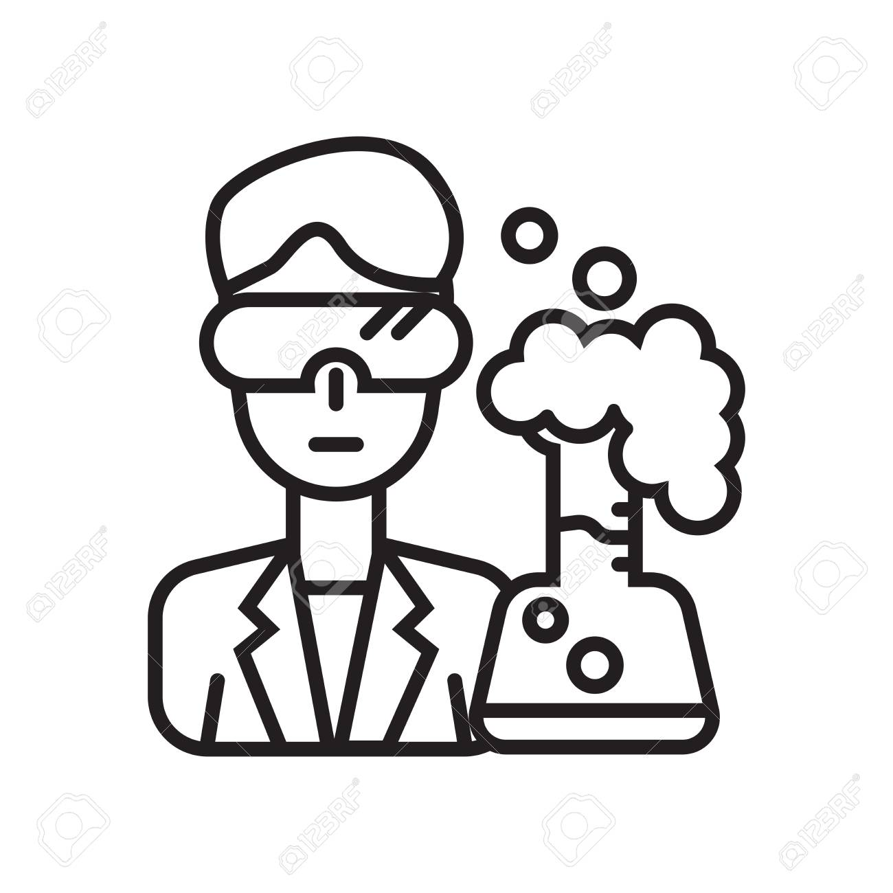 scientist icon vector isolated on white background for your web royalty free cliparts vectors and stock illustration image 106943673 scientist icon vector isolated on white background for your web