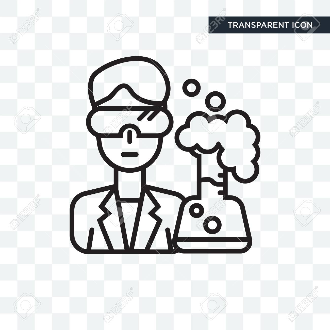 scientist vector icon isolated on transparent background scientist royalty free cliparts vectors and stock illustration image 107604965 scientist vector icon isolated on transparent background scientist