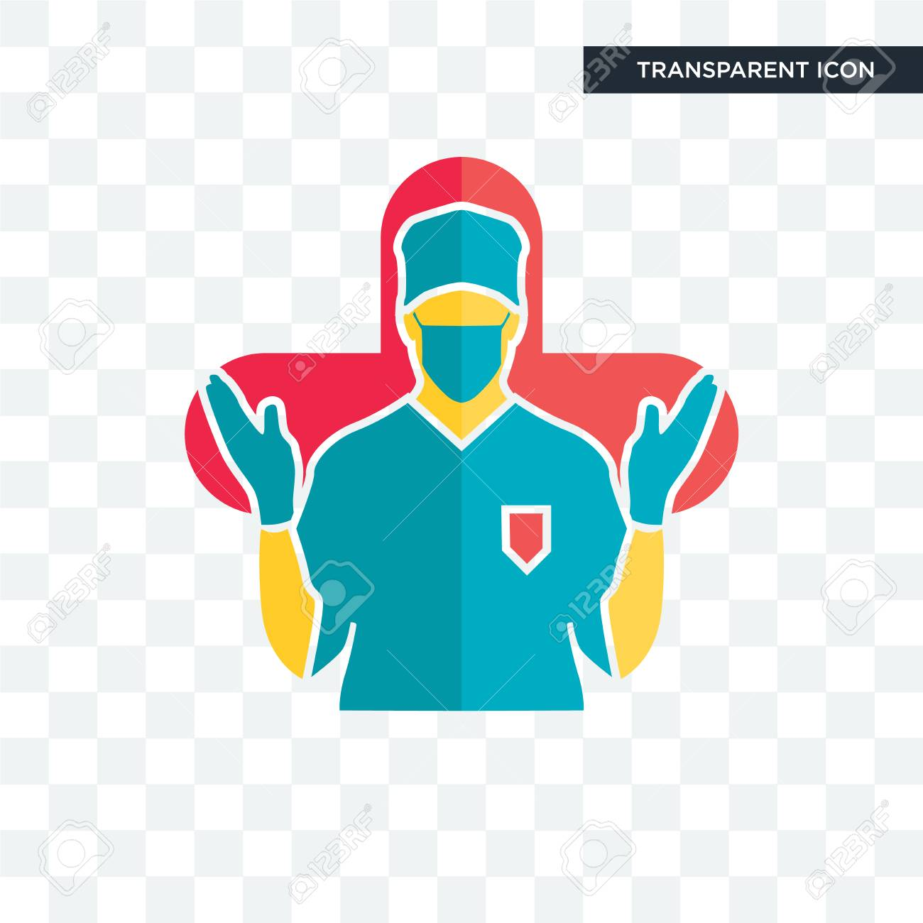 Surgeon Vector Icon Isolated On Transparent Background Surgeon Royalty Free Cliparts Vectors And Stock Illustration Image 108199638
