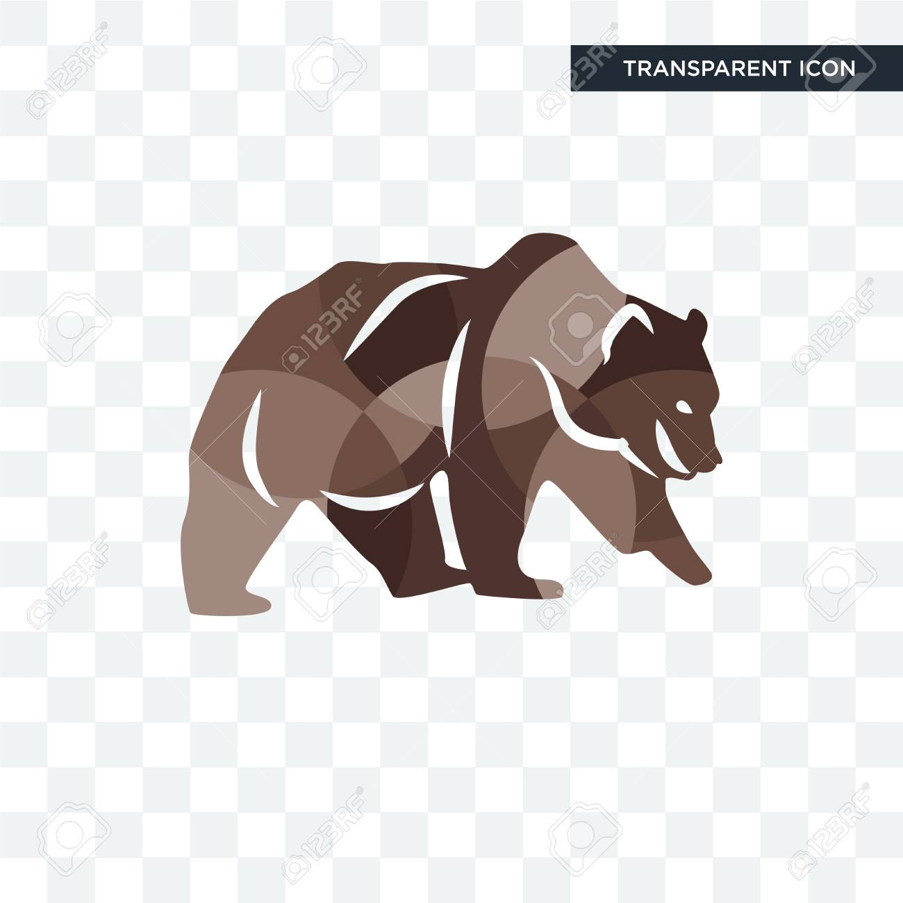 grizzly bear vector icon isolated on transparent background royalty free cliparts vectors and stock illustration image 108262238 grizzly bear vector icon isolated on transparent background
