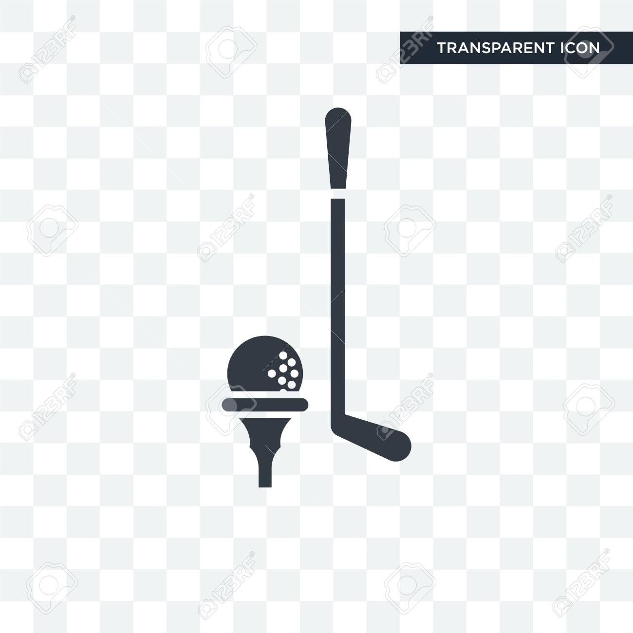 Golf Ball Vector Icon Isolated On Transparent Background Golf Royalty Free Cliparts Vectors And Stock Illustration Image 108801279