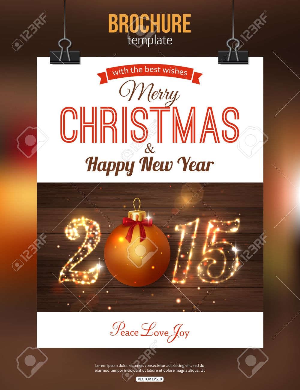 Christmas Brochure Template Abstract Typographical Flyer Design