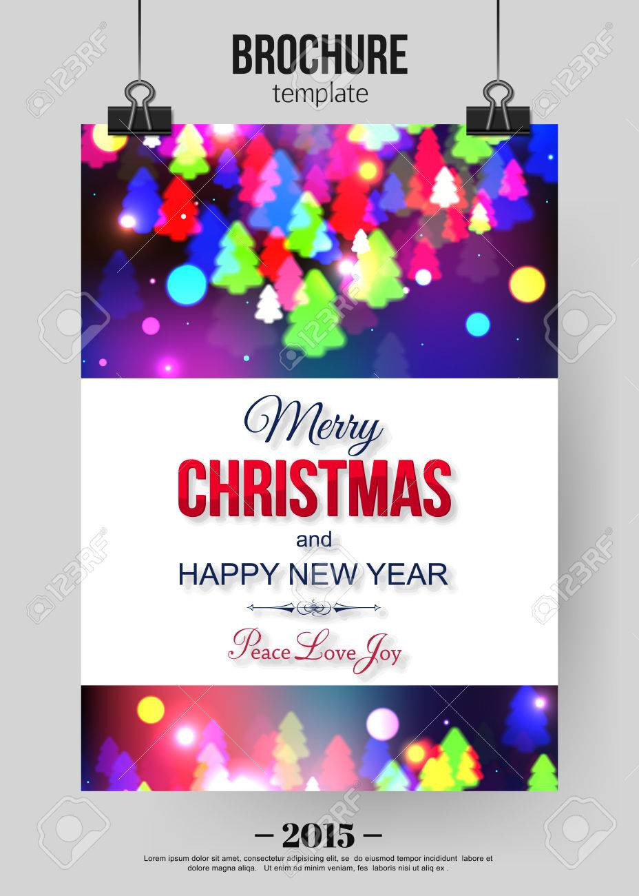 christmas brochure template abstract typographical flyer design christmas brochure template abstract typographical flyer design xmas tree lights and place for text