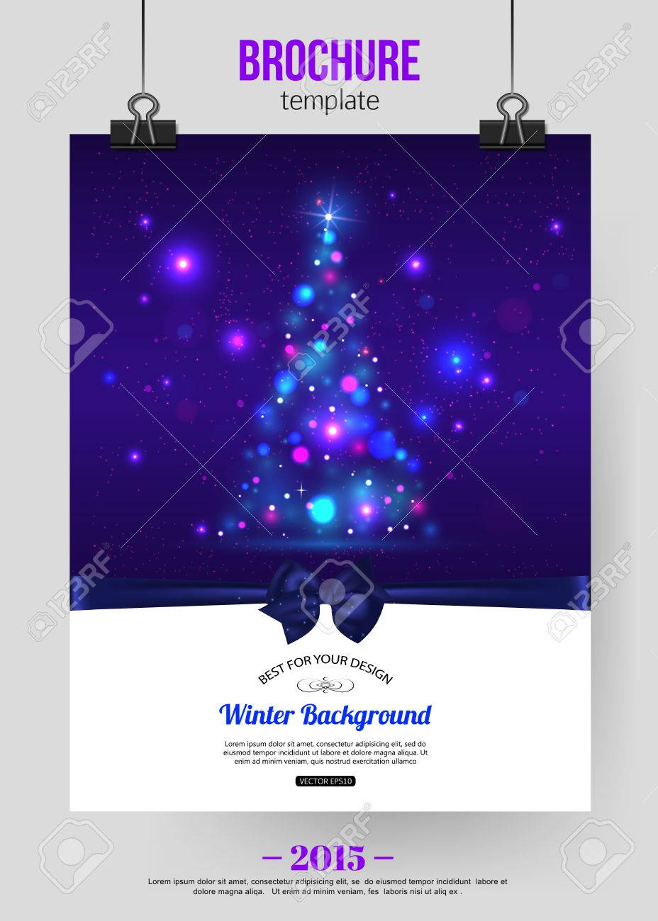 Christmas Brochure Template. Abstract Typographical Flyer Design ...