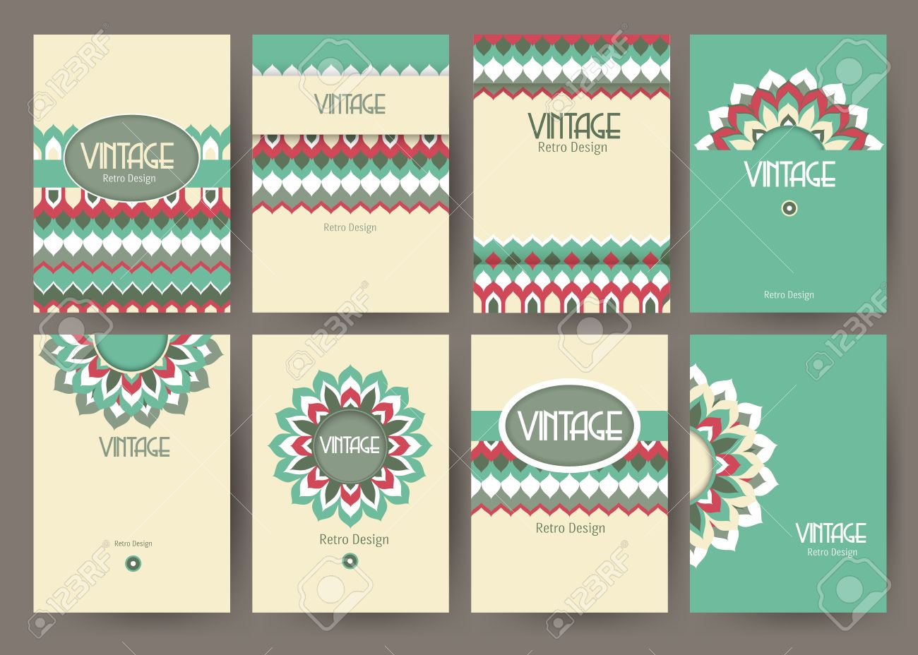 Poster design free template - Set Of Creative Vintage Card Templates Best Creative Hand Made Design For Poster Placard