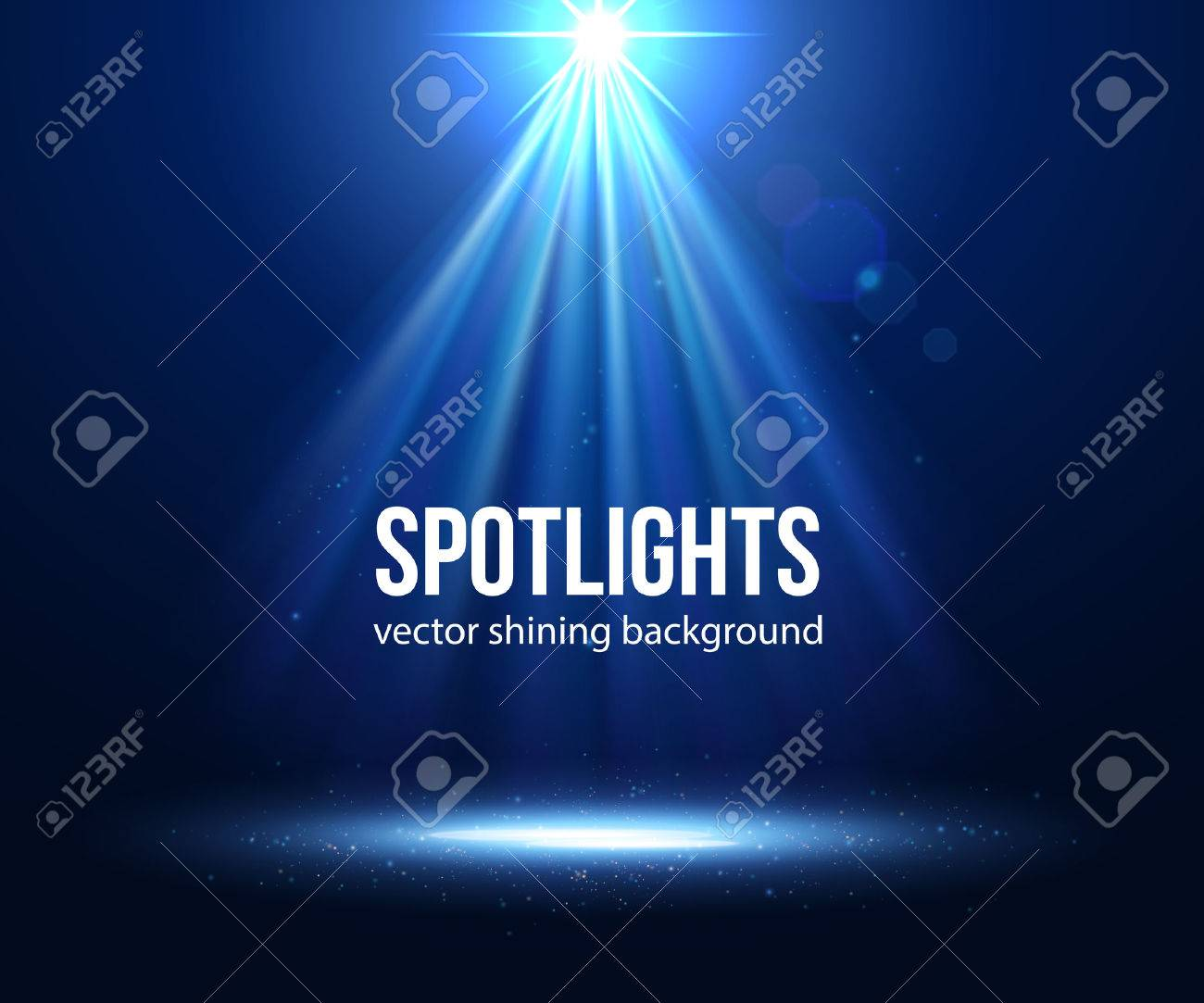 Vector scene illuminated spotlight. Dark spotlight. Stage spotlight. Spotlight background vector. Spotlight effect scene background. Show scene spotlight. Spotlight on stage. lighting effects vector. - 50938032