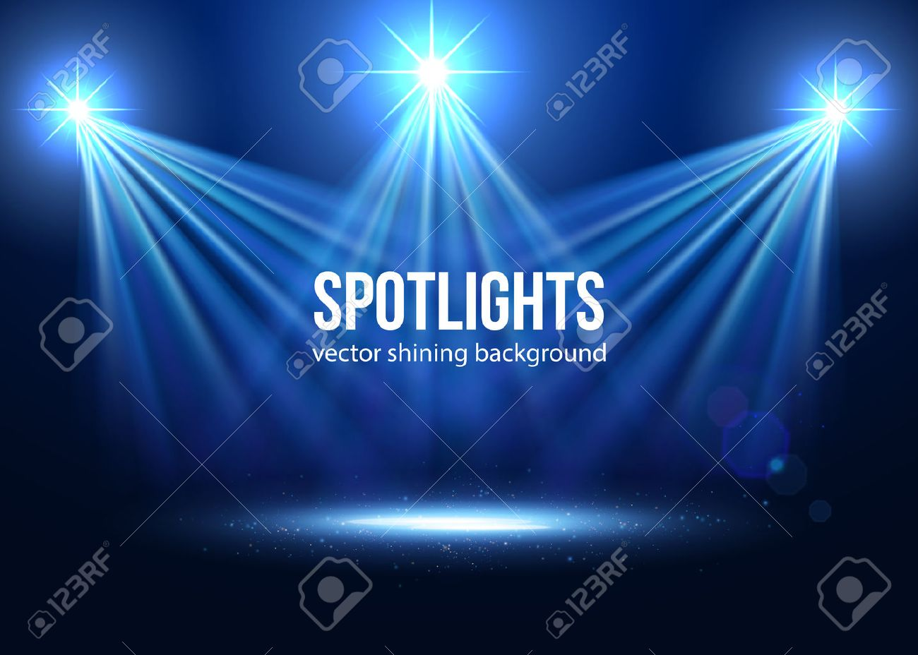 Spotlight isolated vector. Scene illumination. Transparent effects on a plaid dark background. Light Effects. Vector spotlight. Stage lights. - 50938034