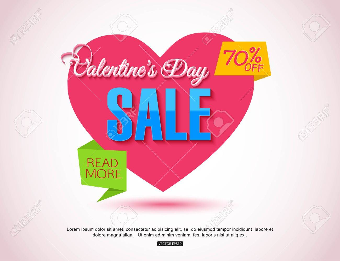 Happy Valentines Day Flyer Template For Creating Advertising