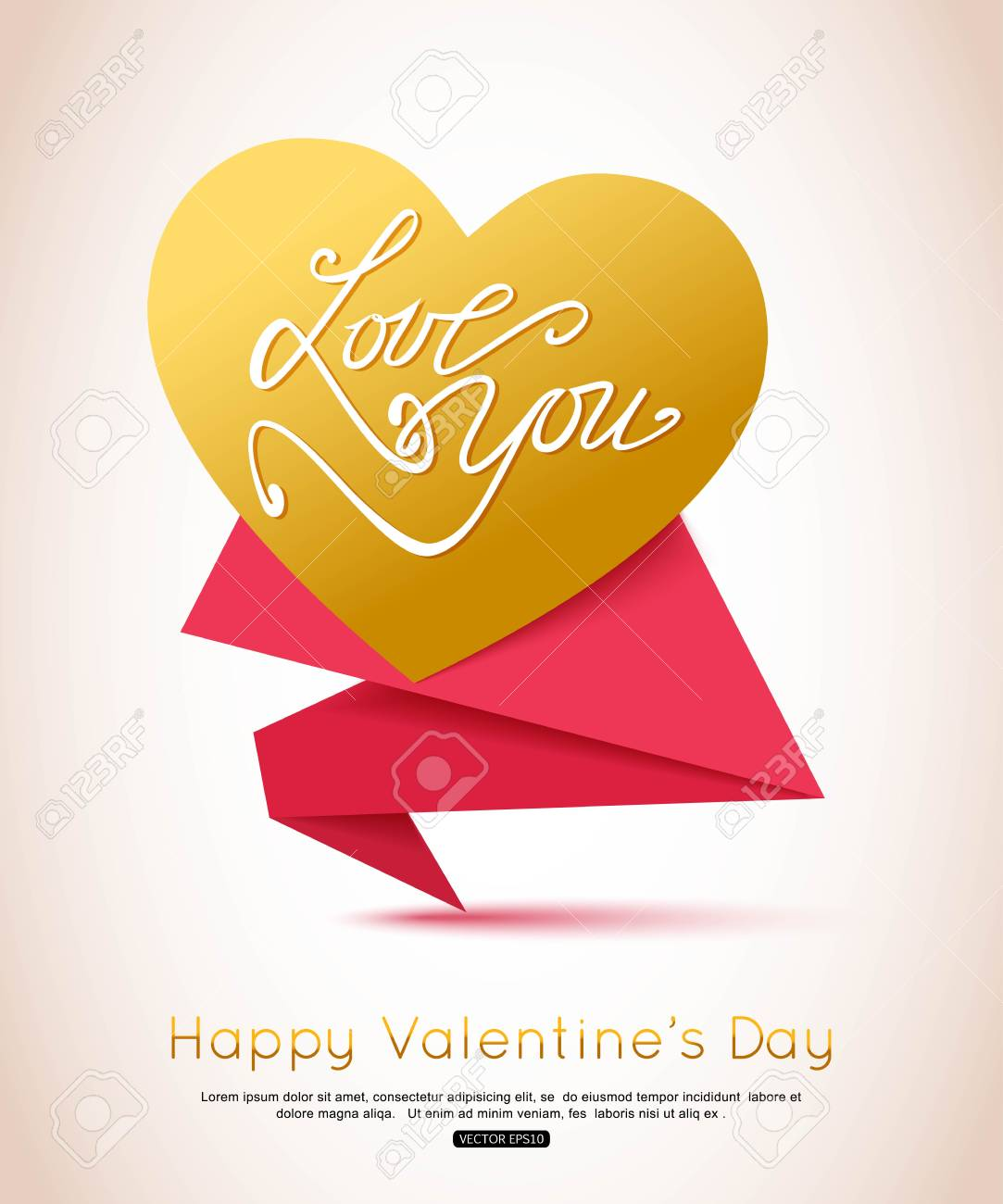 happy valentines day flyer valentines day background gold heart