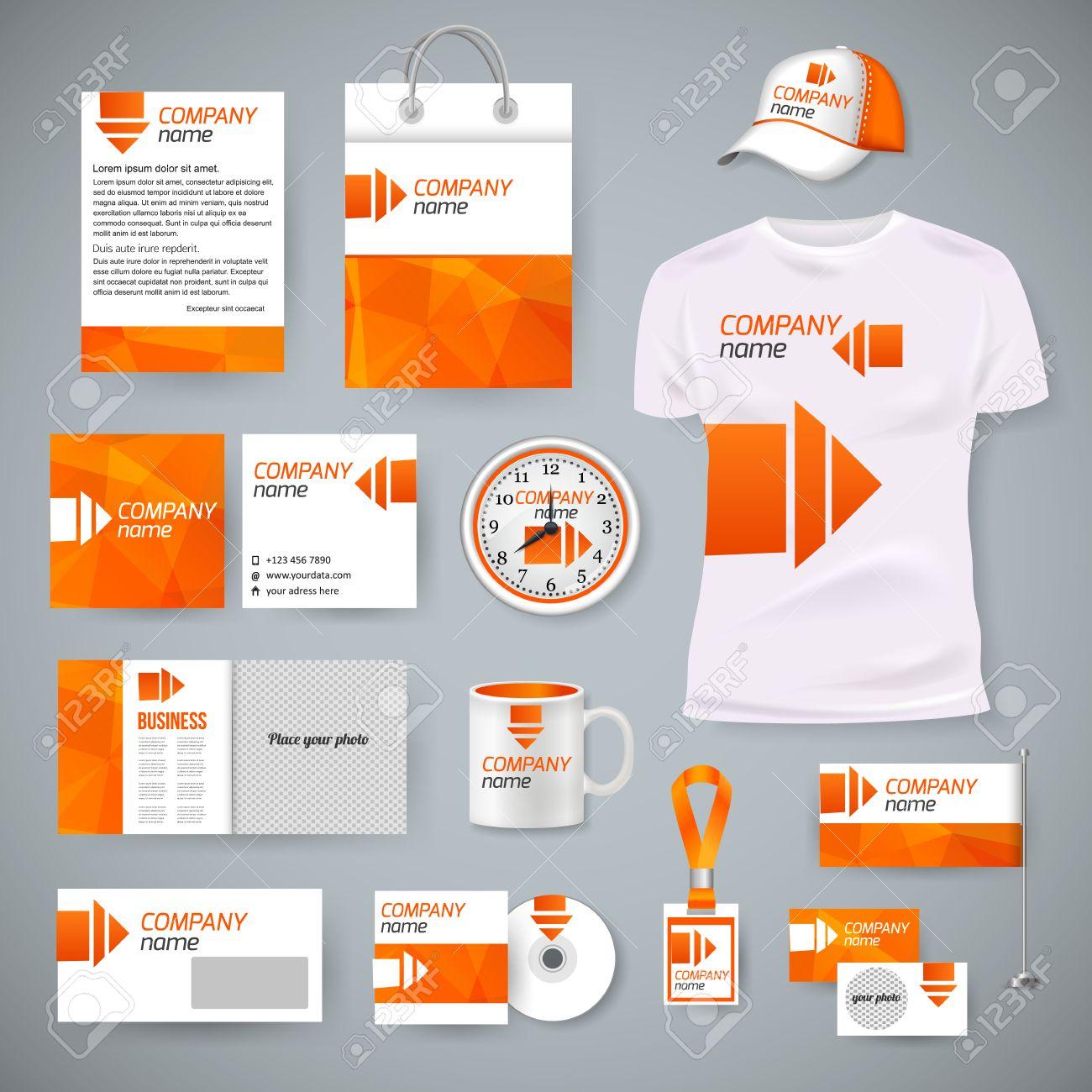 Corporate Identity Business Photorealistic Design Template Classic