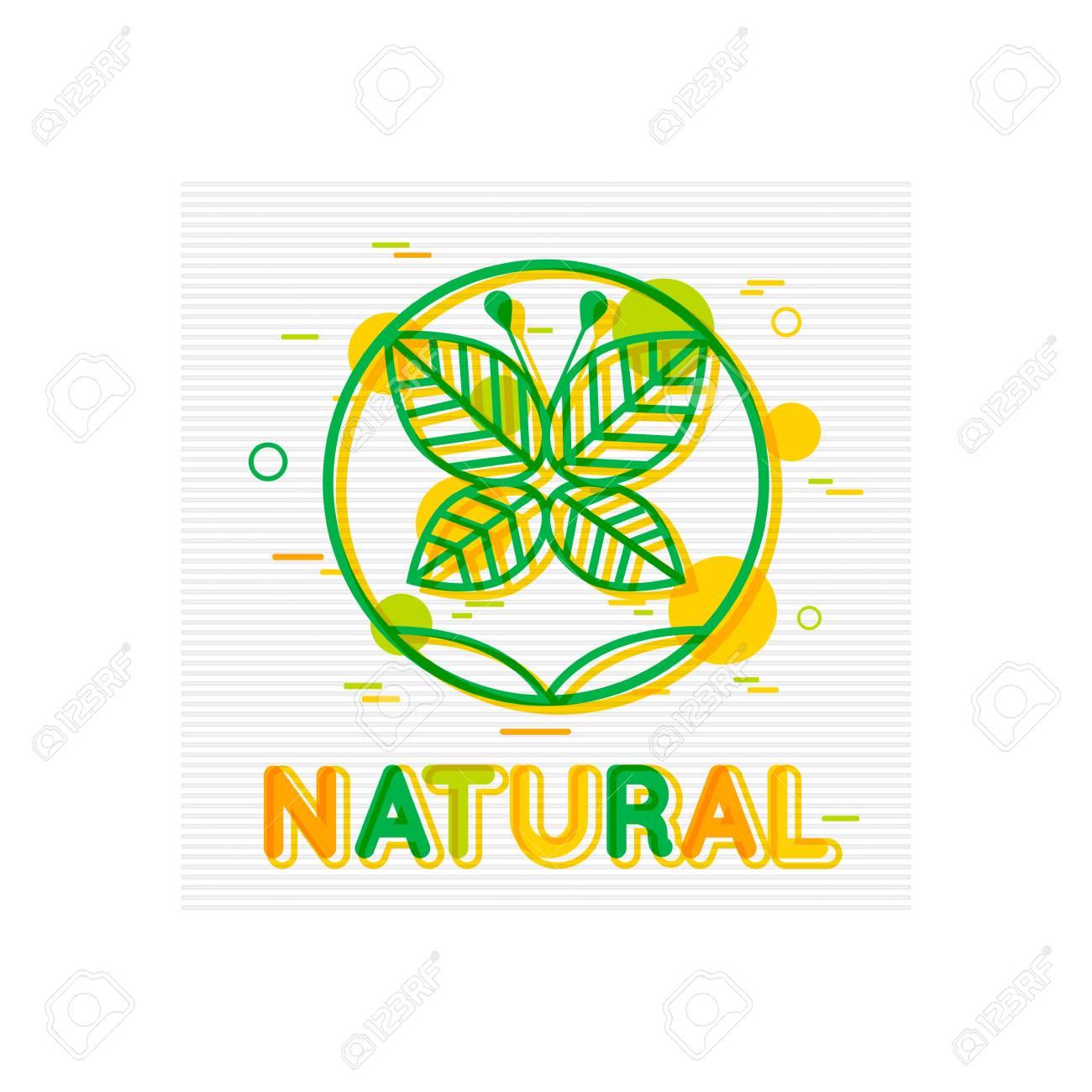 Concepto Natural. Banner Natural. Diseño Del Logo Natural. Cartel De ...