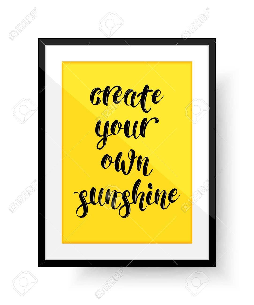 Creez Votre Sunshine Citation Cadre Avec Citation Vector