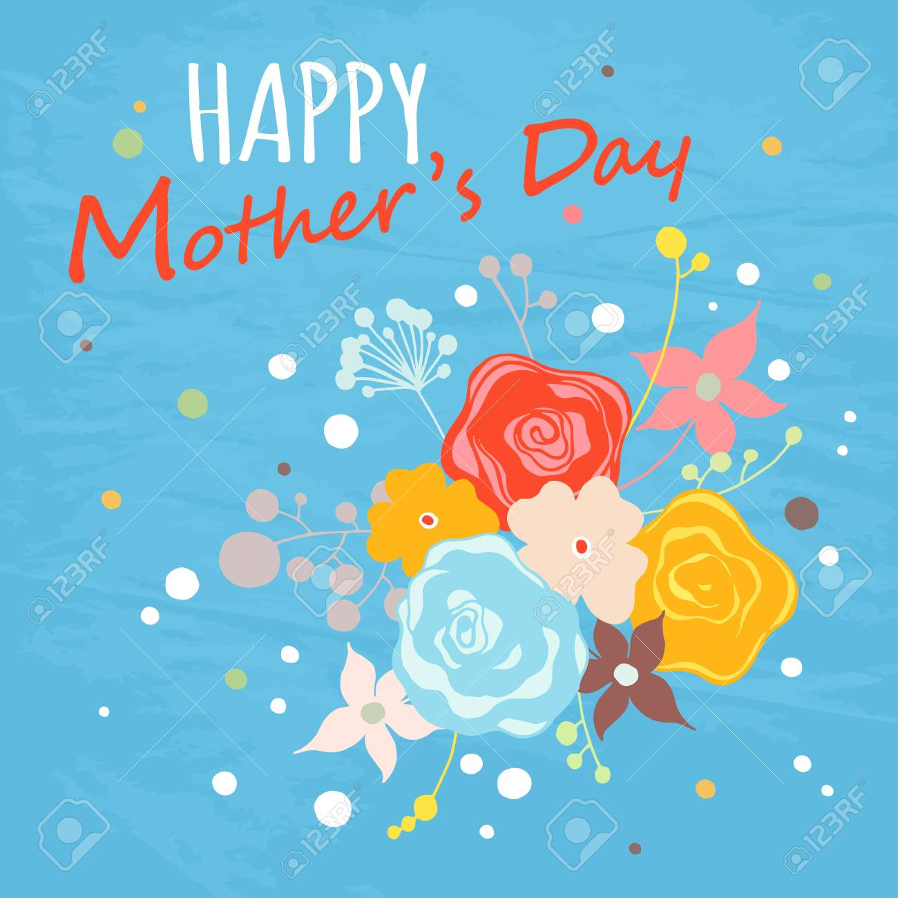 Happy mothers day floral greeting card vector illustrator royalty happy mothers day floral greeting card vector illustrator stock vector 55947467 m4hsunfo