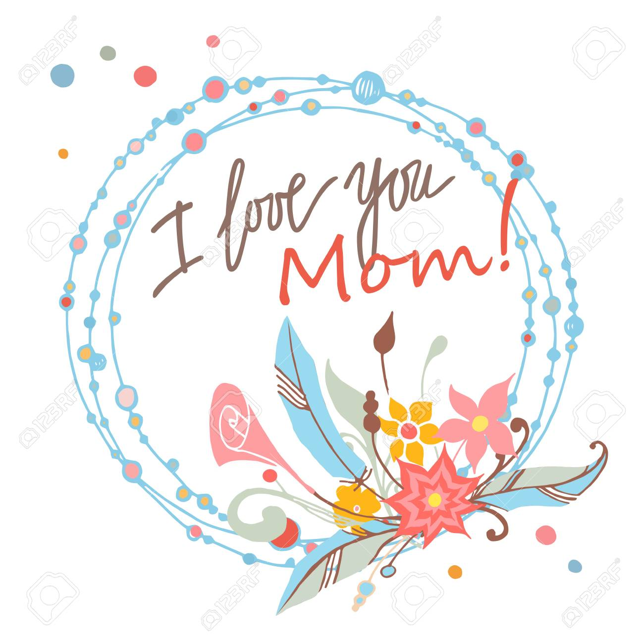 Happy mothers day floral greeting card vector illustrator royalty happy mothers day floral greeting card vector illustrator stock vector 55947474 m4hsunfo