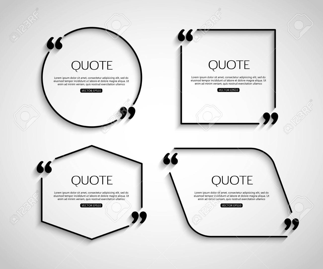 set paper quote template for social networking business set paper quote template for social networking business newspaper magazine and advertising action