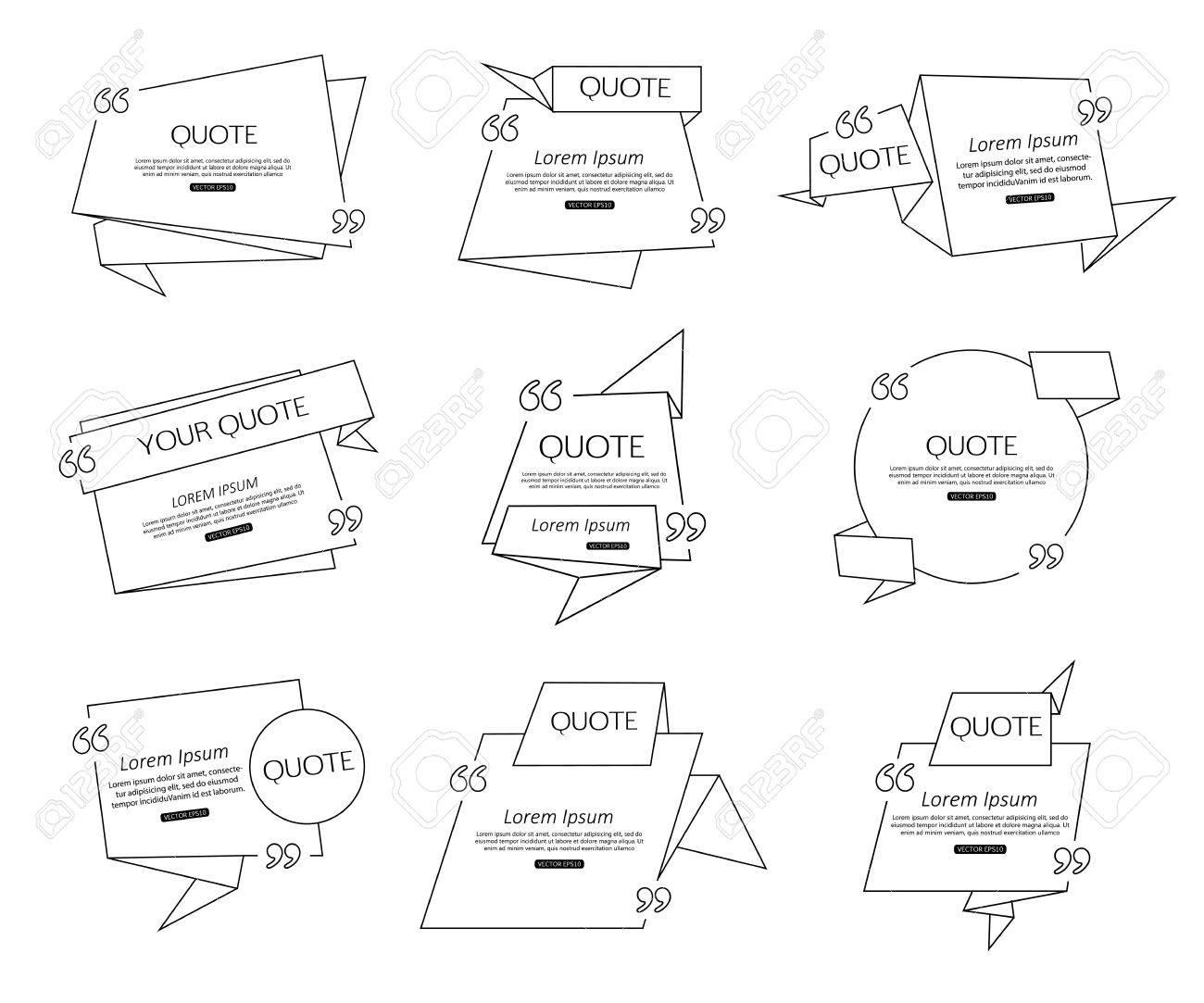 Set Origami Zitat Vorlage Für Soziale Netzwerke Wirtschaft Zeitung