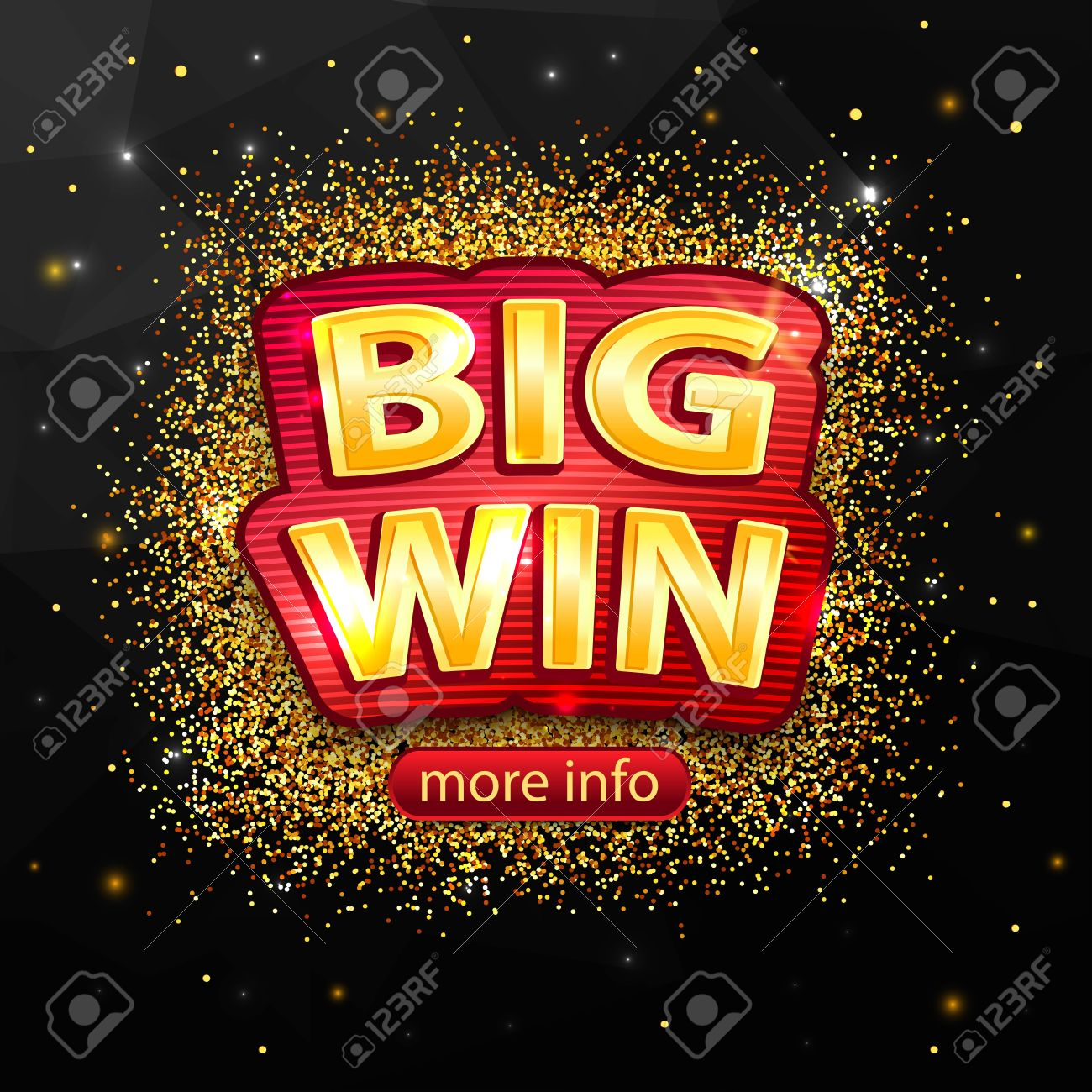 Big Win background for online casino, poker, roulette, slot machines, card games. Big Win banner. - 56891002