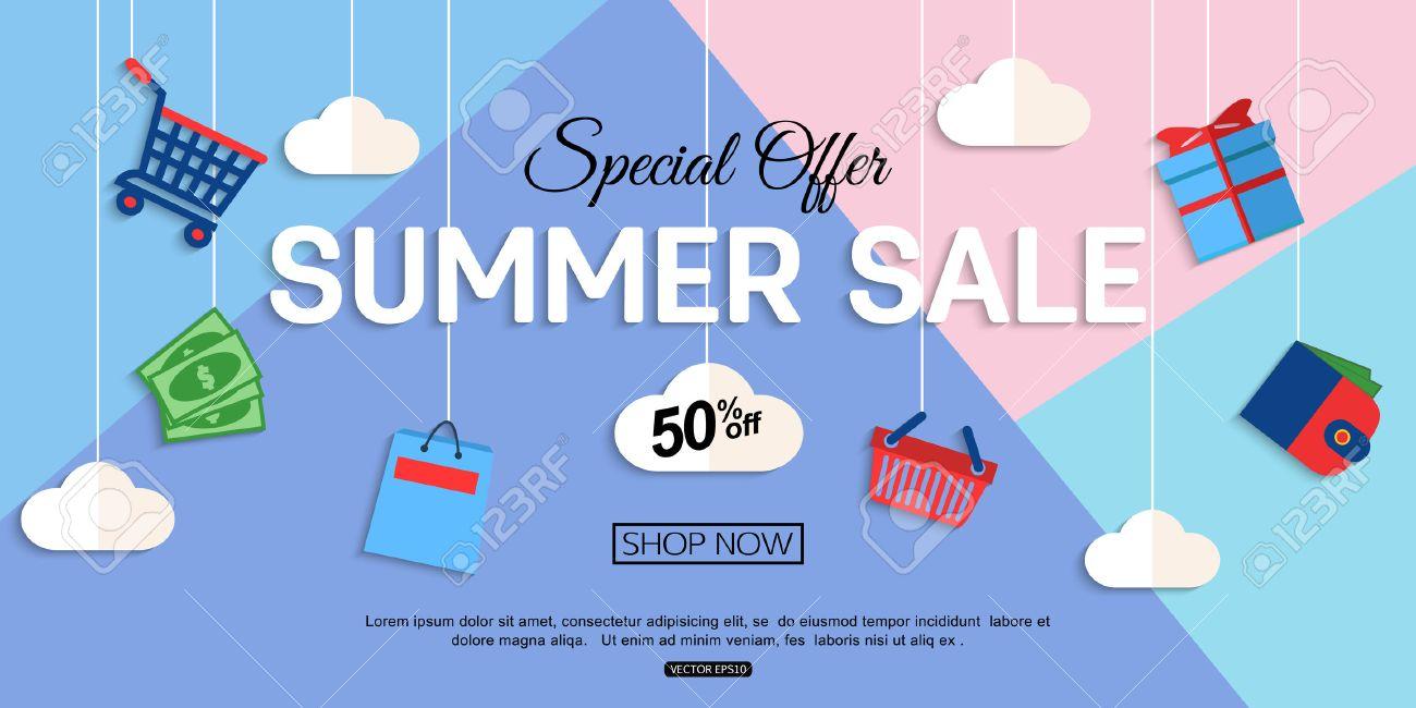 Sale Discount background for the online store, shop, promotional leaflet, promotion, poster, banner. Vector eps 10 format. - 61622829