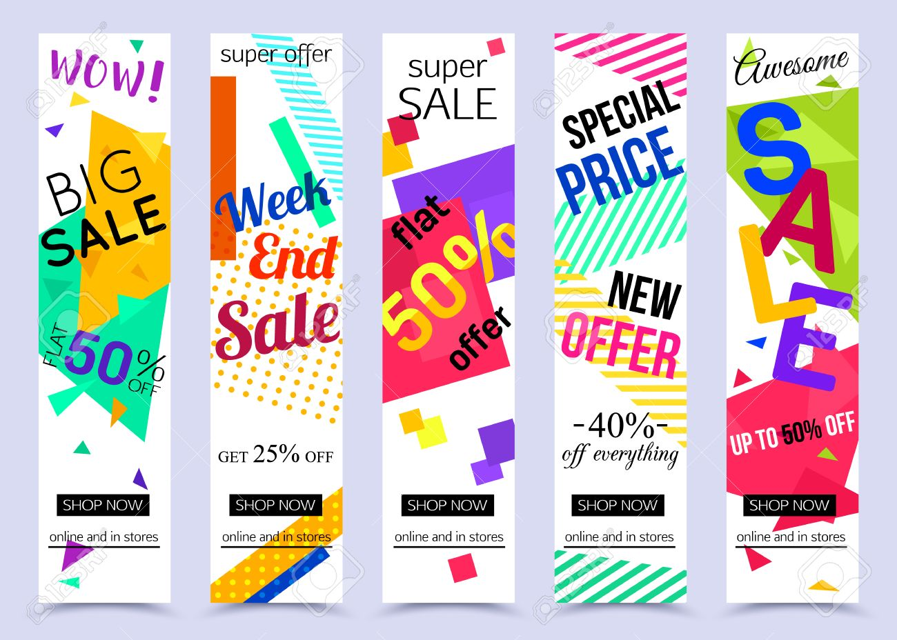 Collection Of Vertical Social Media Banners Vector Illustrations Royalty Free Cliparts Vectors And Stock Illustration Image 67180374