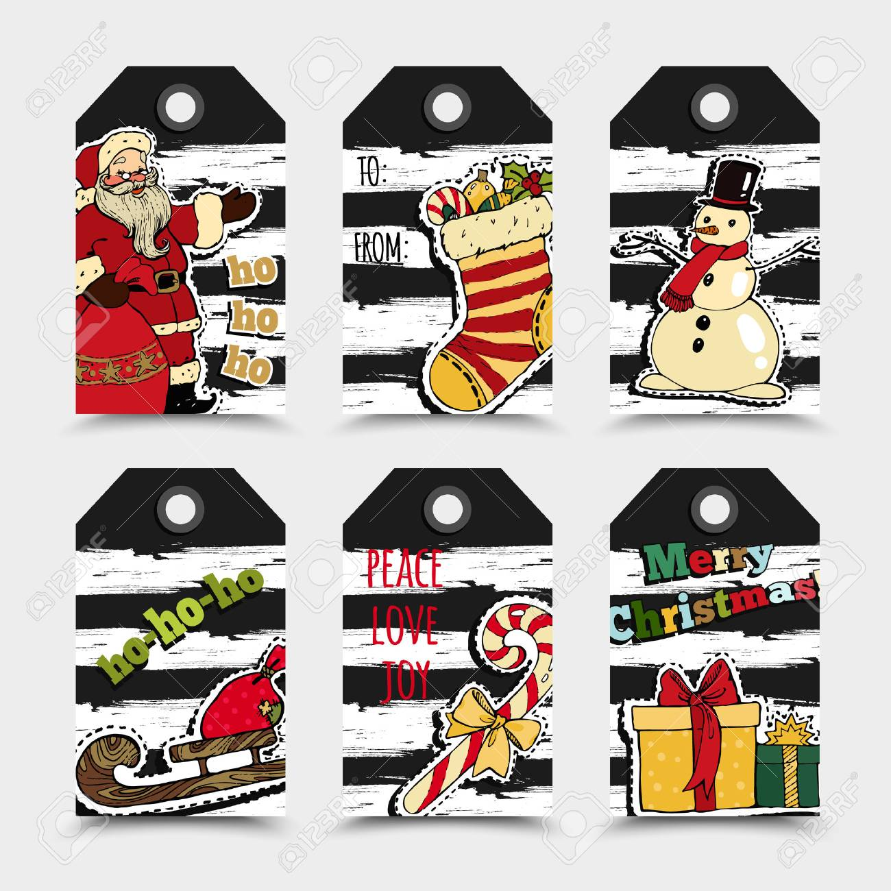 picture relating to Christmas Labels Printable referred to as Xmas Labels Template Variety