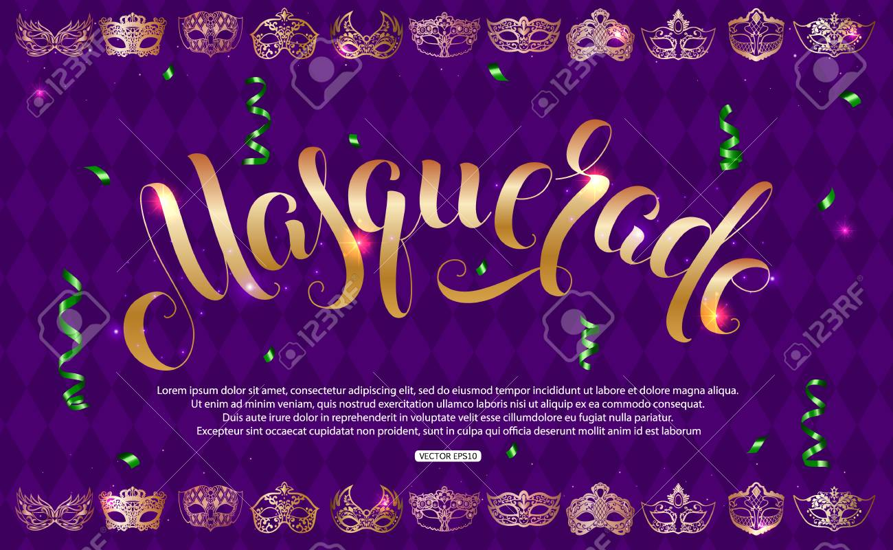 a72b4d79caf0 Purple masquerade background vector illustration. Stock Vector - 94274723