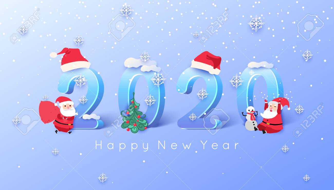 Santa Christmas 2020 2020 Merry Christmas And Happy New Year Background. ?heerful