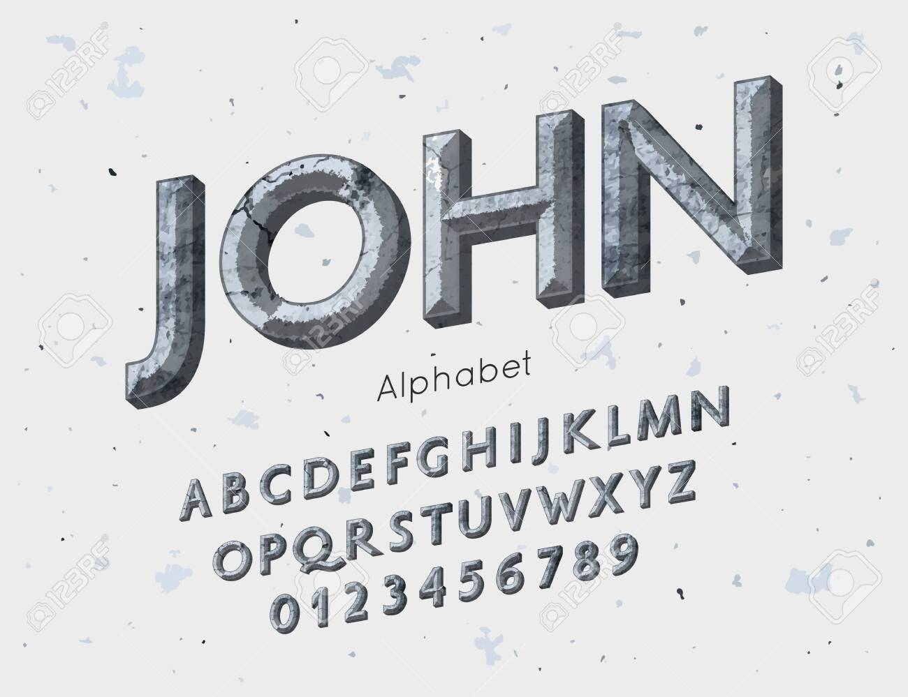 Vector medieval font and alphabet  Vintage abc, english letters