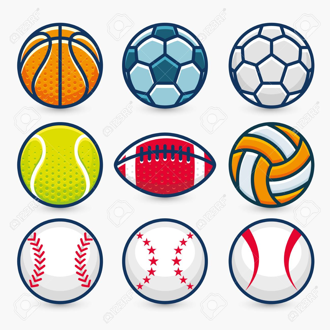 Set Of Sports Balls Vector Illustration Royalty Free Cliparts Vectors And Stock Illustration Image 50400617
