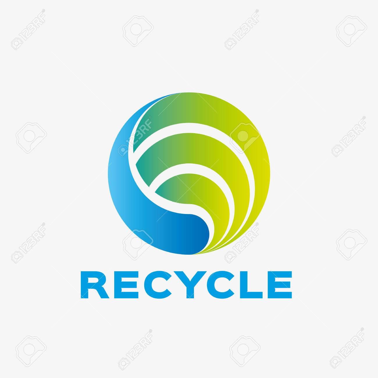 6d55f02b7a7f9 Abstract logo de recyclage. modèle de conception de logo d'entreprise  Résumé. Logo