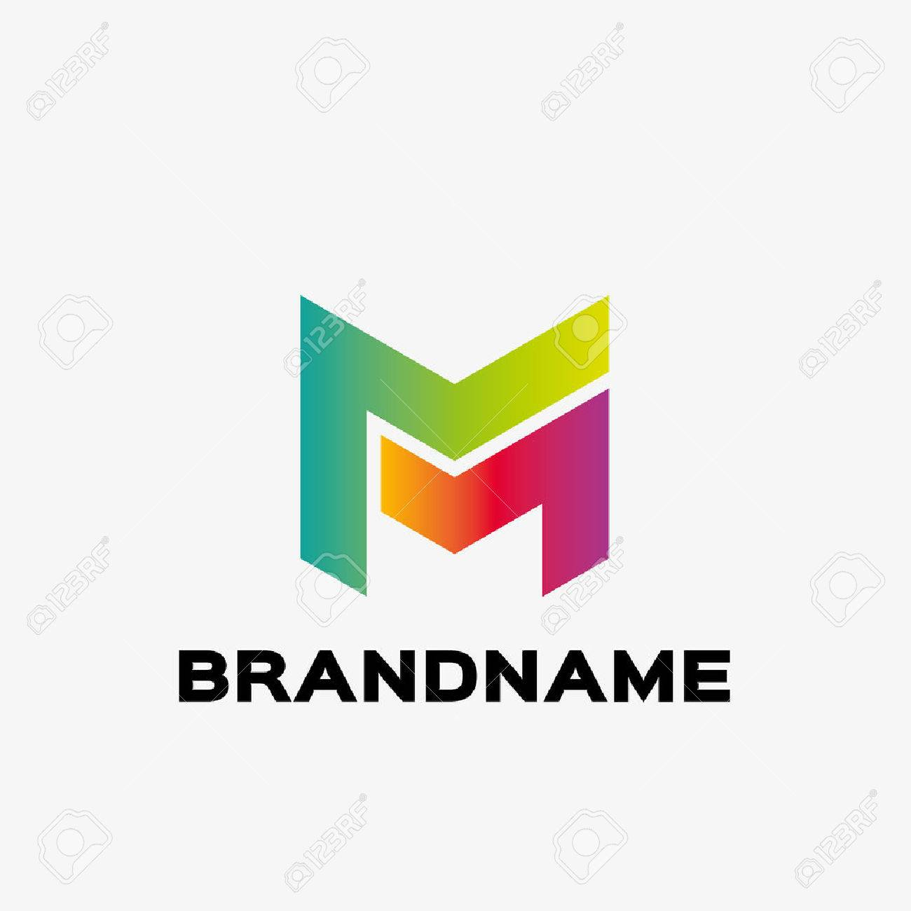 Abstract Letter M Logo Business Design Template Editable For Your
