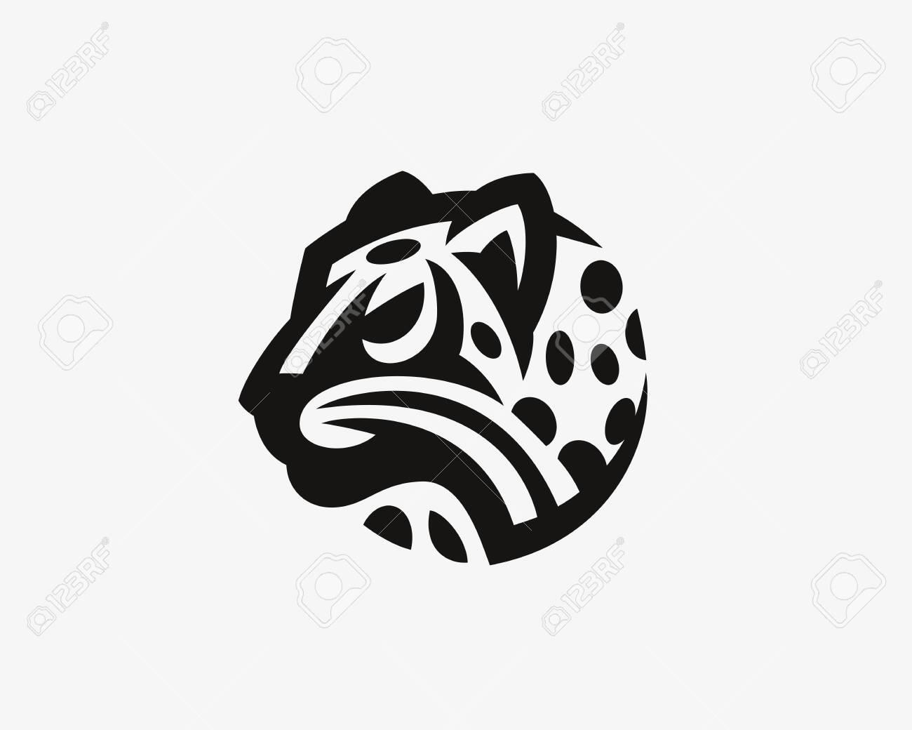 Leopard head. Wild cat emblem design editable for your business. Vector illustration. - 135295563