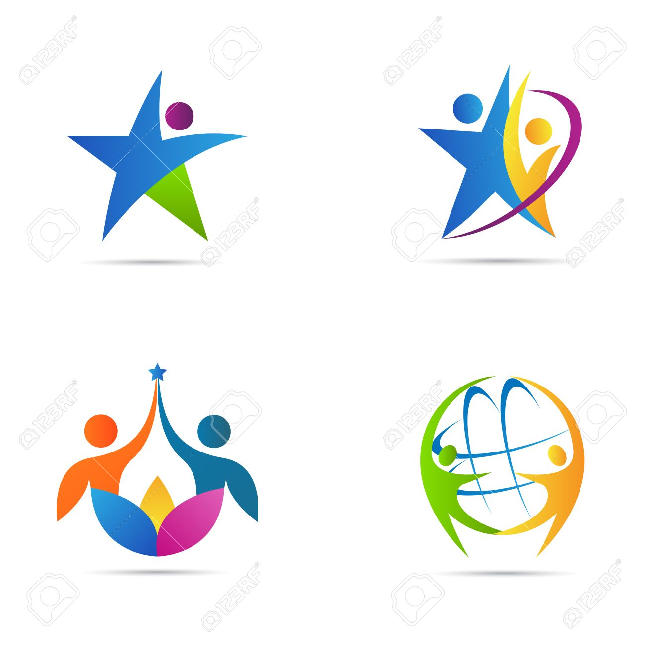 people logos vector design represents fitness and business icon rh 123rf com logo vector clipart logo vector art