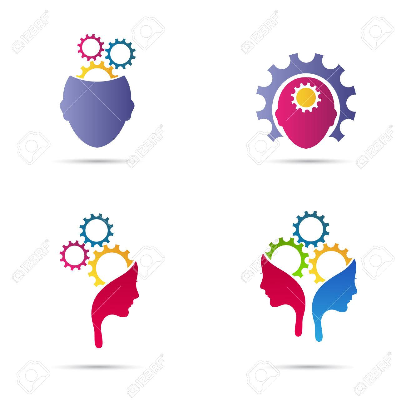 Mind Gear Vector Design Represents Creative Thinking And Different Business Ideas Concept Stock Vector