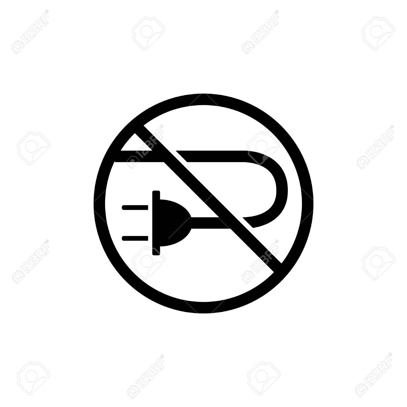No Cable Icon, No Plug Icon - Vector Illustration. Royalty Free ... for unplug icon  49jwn