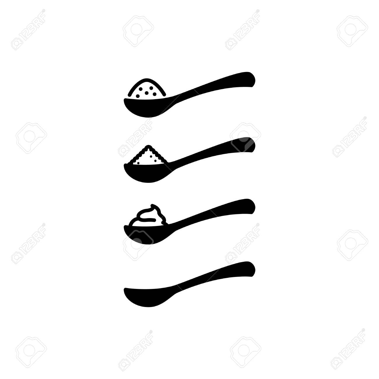 full spoon icon vector line illustration royalty free cliparts vectors and stock illustration image 127734860 full spoon icon vector line illustration