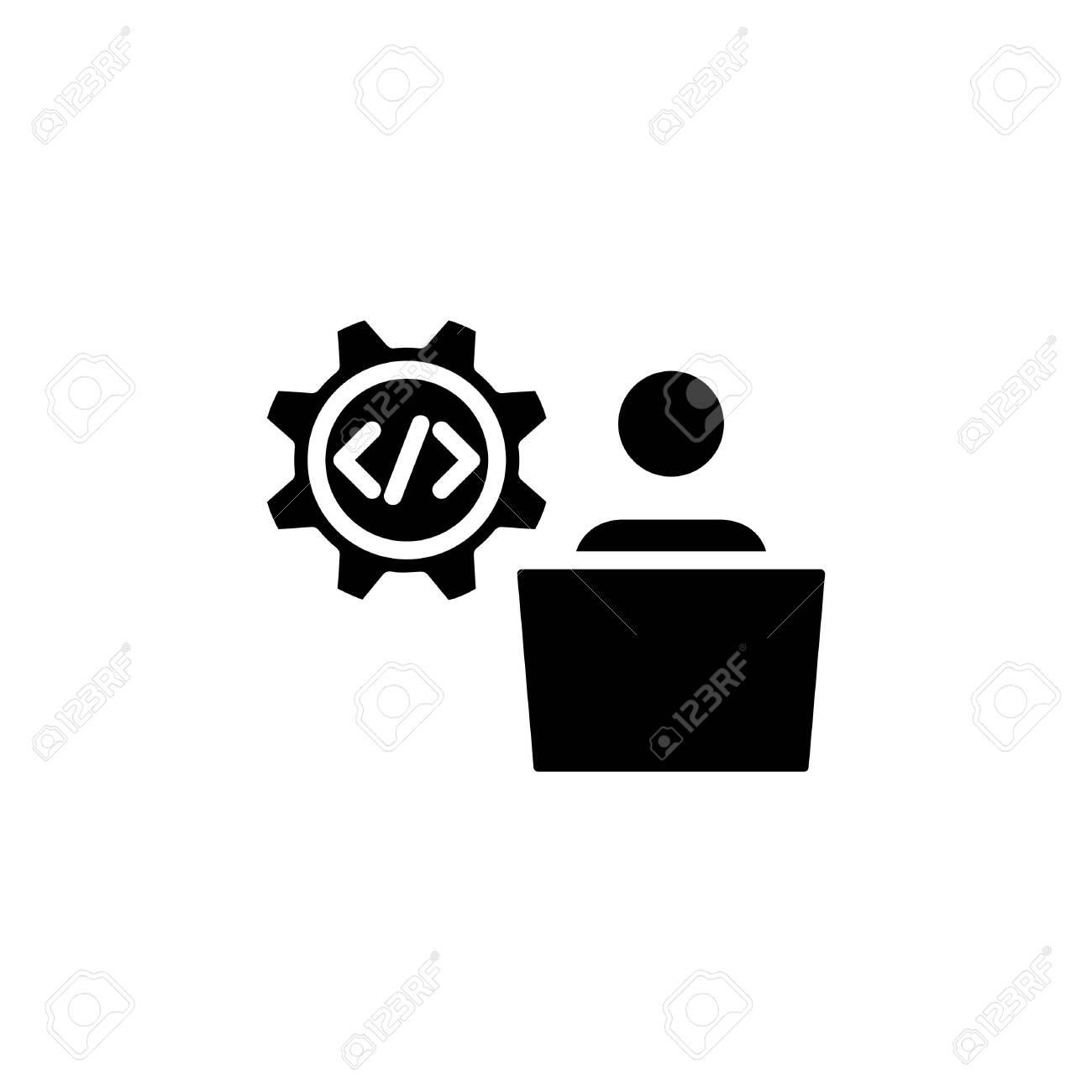 doveloper icon, vector line illustration - 127672097