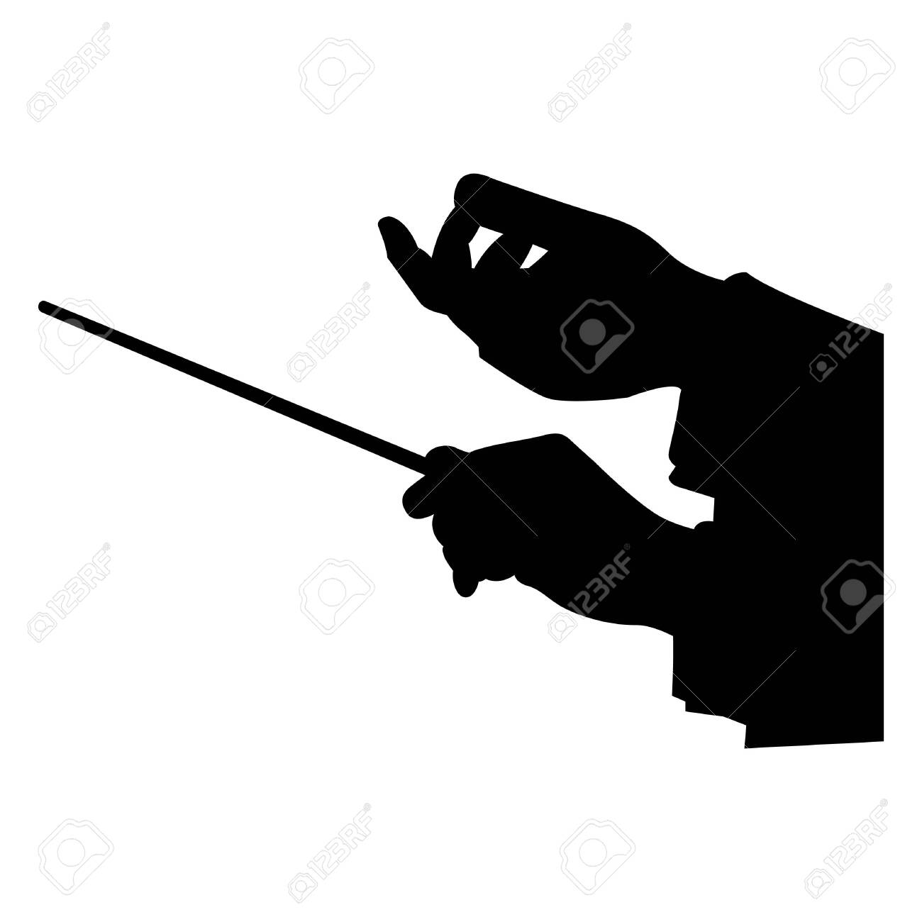 choir guide music, vector illustration - 127476853