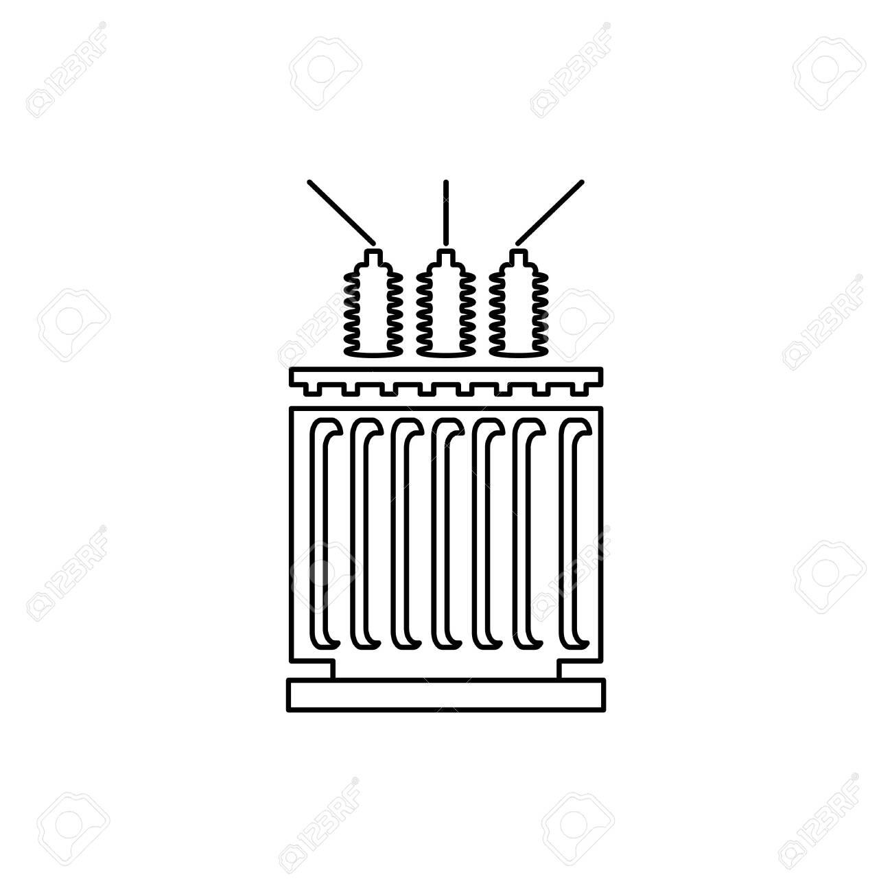 Electric transformer icon - vector illustration. - 152338202