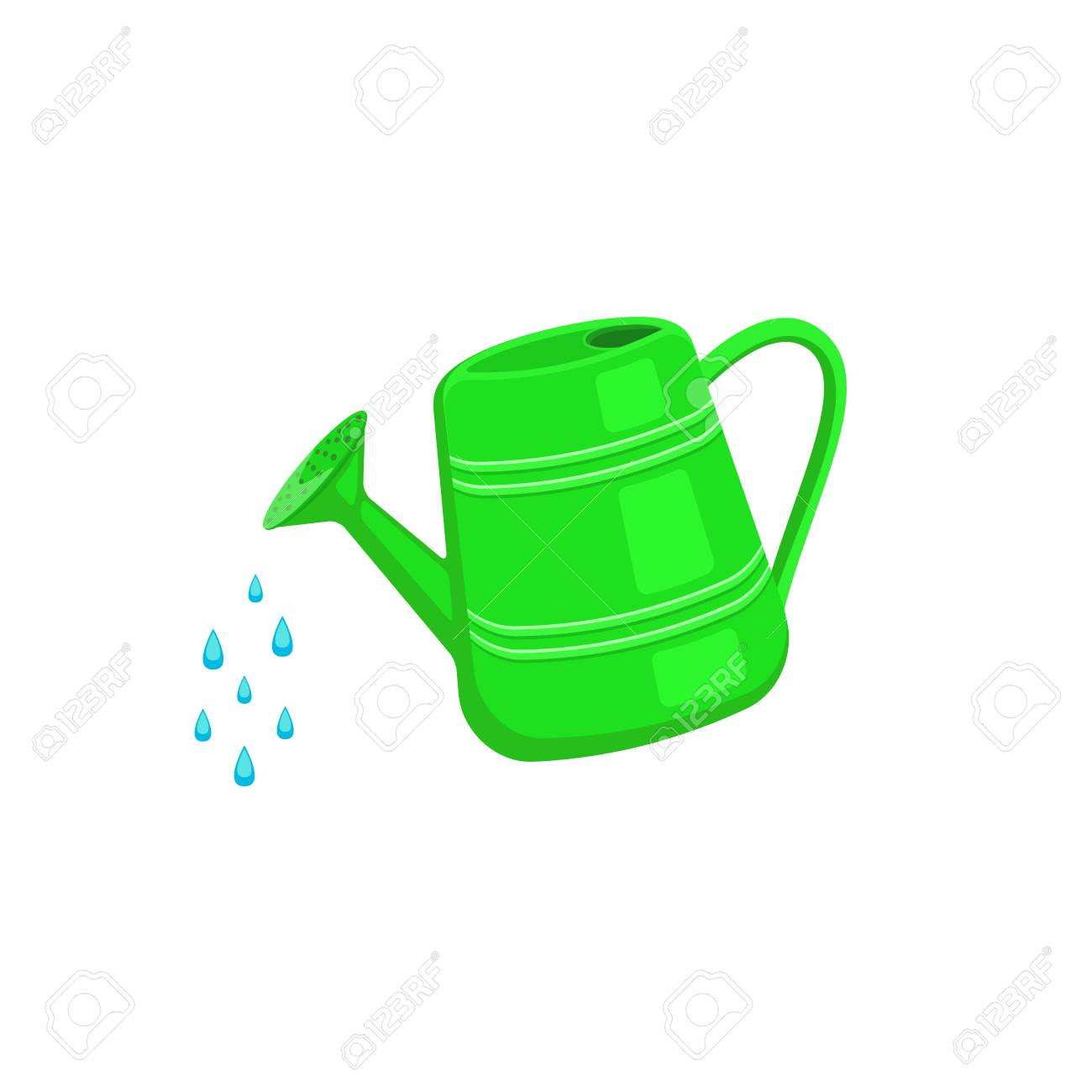 Watering Can Icon Isolated On White Background. Garden Tools ...