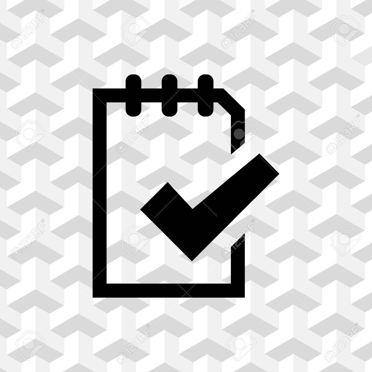 3a92b55d6 Foto de archivo - Lista de comprobación icono ilustración vectorial de  diseño plano