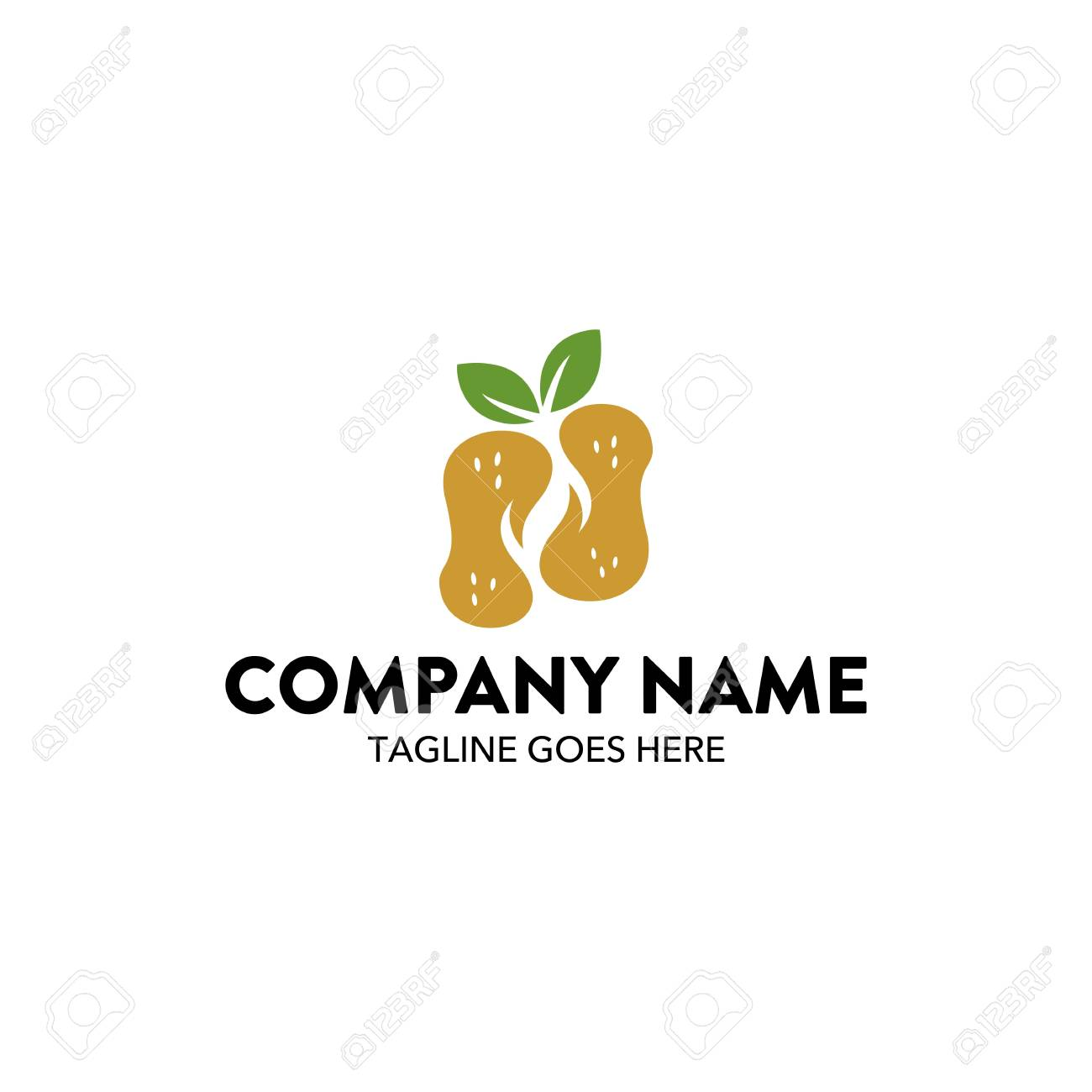 peanuts with leaves bakery logo royalty free cliparts vectors and