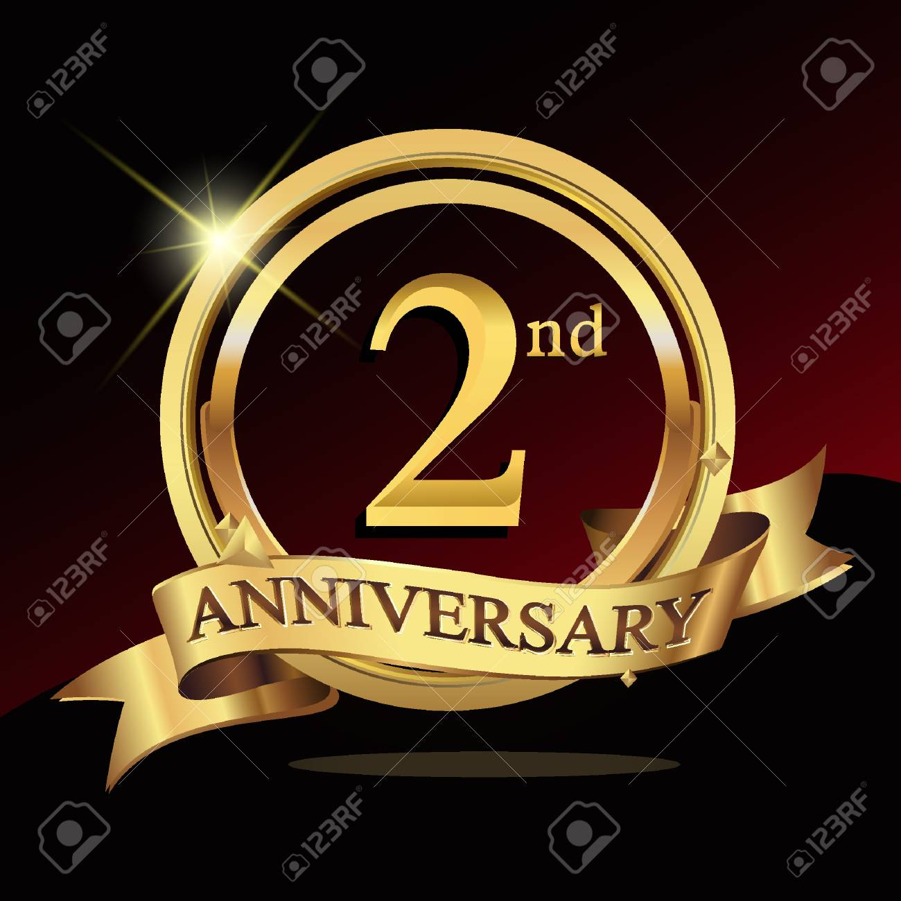 2nd Years Golden Anniversary Logo Celebration With Ring And Ribbon Royalty Free Cliparts Vectors And Stock Illustration Image 72308454,Types Of Hamsters Breed